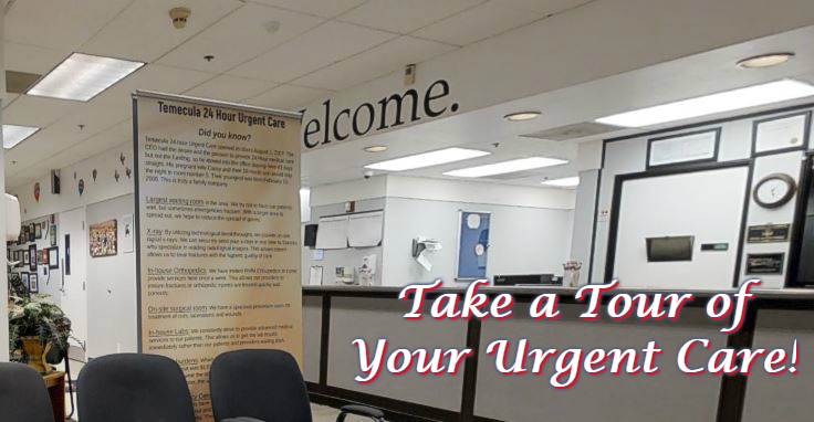 Click here to take a tour of your 24-hour Urgent Care facility.